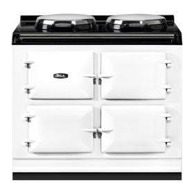 """AGA Total Control 39"""" Electric White with Stainless Steel trim"""