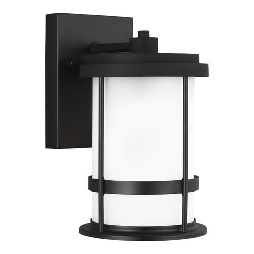 Wilburn Small One Light Outdoor Wall Lantern Black