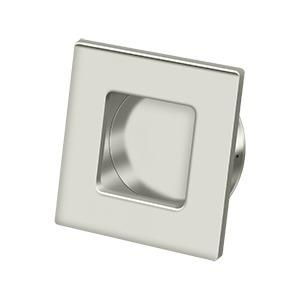 """Flush Pull, Square, HD, 2-3/4""""x 2-3/4"""", Solid Brass - Polished Nickel"""