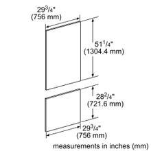 """30"""" Panel 2 Door Fridge Freezer"""