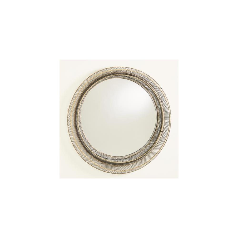 Wire Ribbon Mirror-Natural Iron/Brass Braising