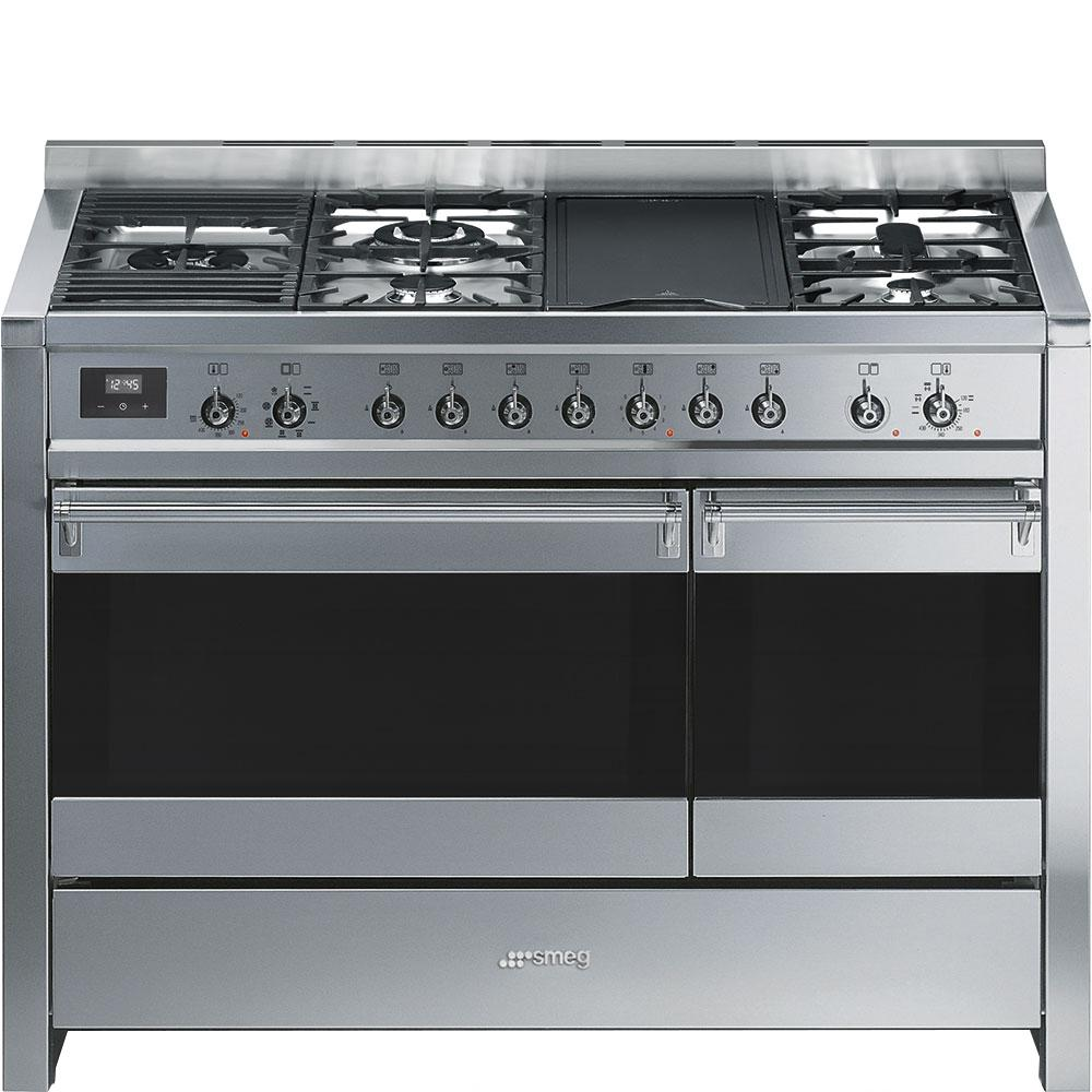 "Free-standing Dual Fuel Dual Cavity ""Opera"" Range Approx. 48"" Stainless Steel Gas Rangetop With Electric Grill Photo #1"