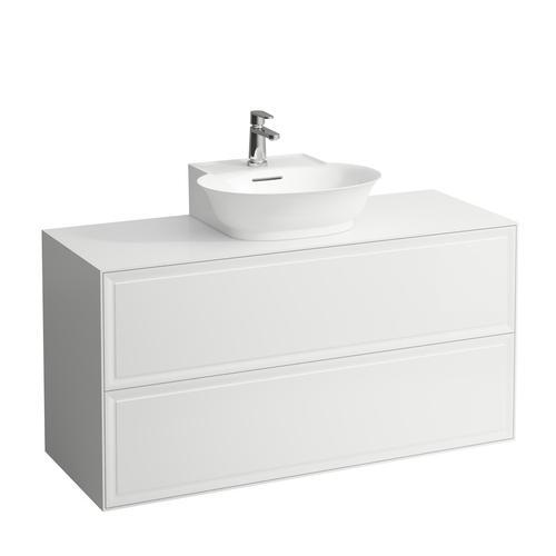 White Matte Drawer element 1200, 2 drawers, matches small washbasin 816852