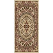 "Persian Design 1.5 Million Point Heatset Tabriz 3917 Area Rug by Rug Factory Plus - 5'4"" x 7'5"" / Cream"