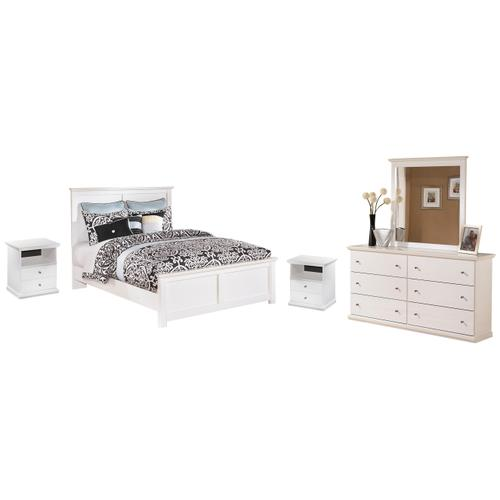 Product Image - Queen Panel Bed With Mirrored Dresser