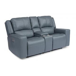 Nelson Power Reclining Loveseat with Console & Power Headrests