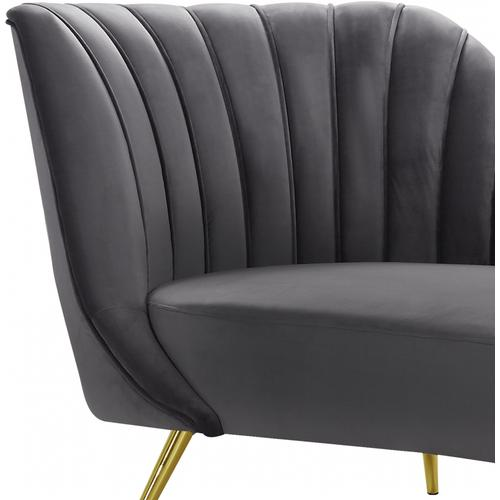 "Margo Velvet Chaise Lounge - 74"" W x 37.5"" D x 35"" H"