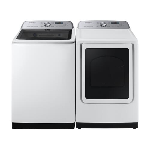 Samsung - 5.1 cu. ft. Smart Top Load Washer with ActiveWave™ Agitator and Super Speed Wash in White
