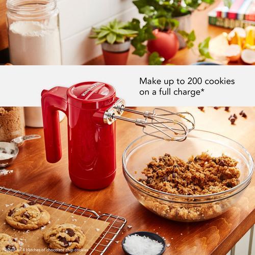 KitchenAid - Cordless 7 Speed Hand Mixer - Empire Red