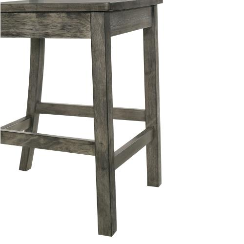 Nathan Counter Side Chair w/Wooden Seat & Fan Back Slat (2 Per Pack)