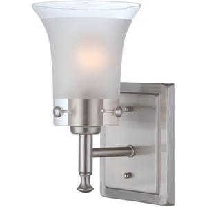1-lite Wall Lamp, Ps/glass Shade, E27 Type A 100w
