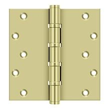"6"" x 6"" Square Hinges, Ball Bearings - Unlacquered Brass"