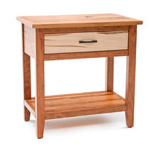 Denver 1 Drawer Nightstand - Maple & Cherry Mix