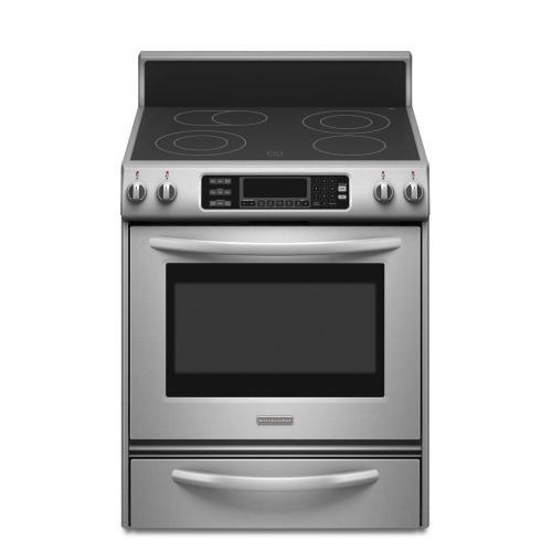 KitchenAid - 30-Inch 4-Element Electric Freestanding Range, Architect® Series II - Stainless Steel