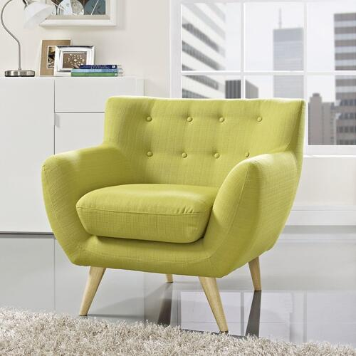 Modway - Remark Upholstered Fabric Armchair in Wheatgrass