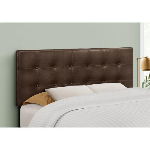 Gallery - BED - FULL SIZE / BROWN LEATHER-LOOK HEADBOARD ONLY