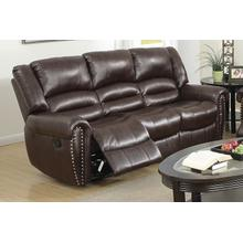 Otylia Reclining/motion Loveseat Sofa or Recliner, Brown-bonded-leather