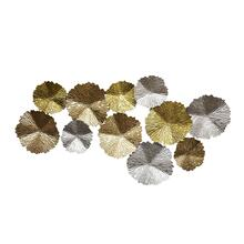 "Metal Wall Decor Lily Pads, 48.5"", Multi, Wb"