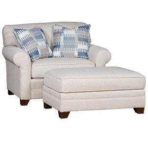 Bentley Fabric Chair & 1/2, Bentley Ottoman & 1/2