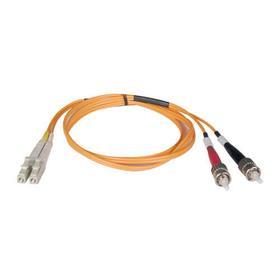 Duplex Multimode 50/125 Fiber Patch Cable (LC/ST), 1M (3 ft.)