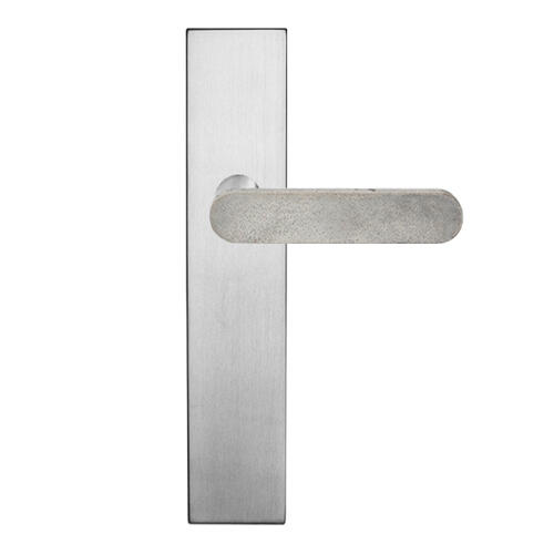 Concrete Club on Euro/American 100 plates series, Plain internal, Satin Nickel, Luna Grey