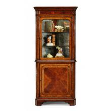 See Details - Mahogany glazed corner cabinet with cupboard