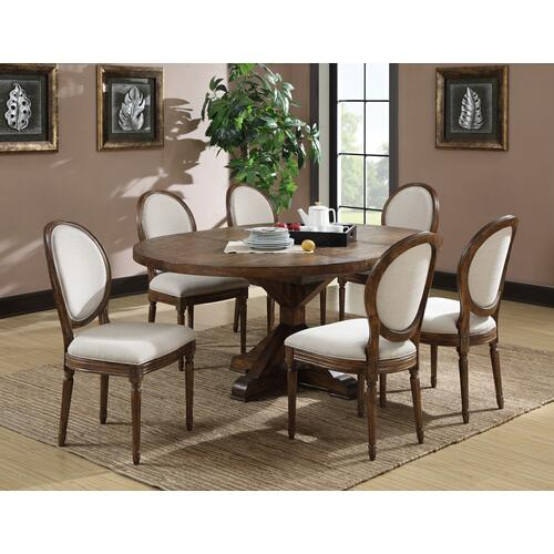 Chambers Creek Round Table Top W/removable Leaf, Rustic Pine D412-12top-05