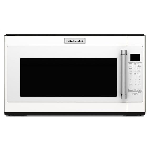 "KitchenAid - 30"" 1000-Watt Microwave Hood Combination - White"