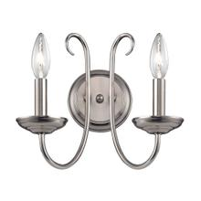 Williamsport 2-Light Wall Sconce in Brushed Nickel