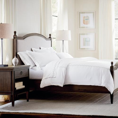 Charlotte Cal King Upholstered Bed, Footboard High
