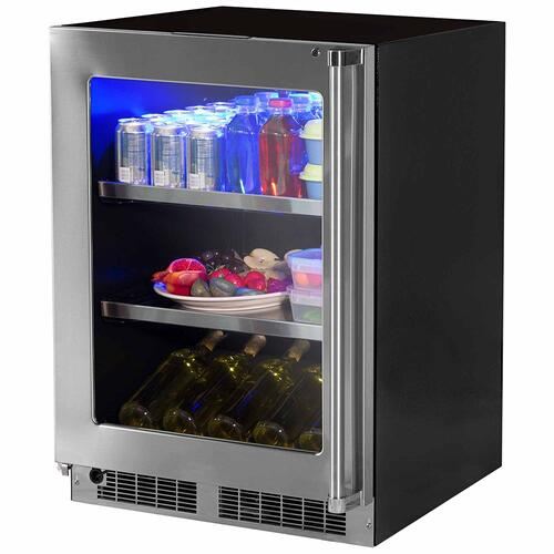 Marvel - 24-In Professional Built-In Beverage Center With Classic Hinge with Door Swing - Left