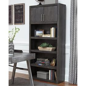 Raventown Large Bookcase Grayish Brown