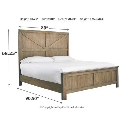 Aldwin California King Panel Bed