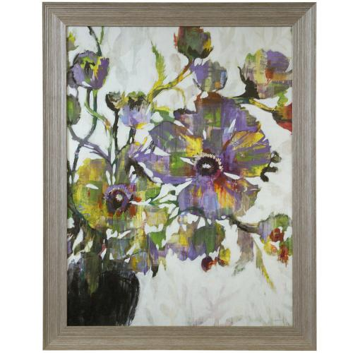 Style Craft - VIVID POPPIES  46in X 36in  Made in the USA  Textured Framed Print