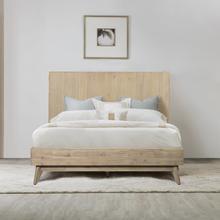 View Product - Baly Acacia Mid-Century Gray Sandblast Platform King Bed