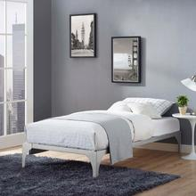 View Product - Ollie Twin Bed Frame in Silver