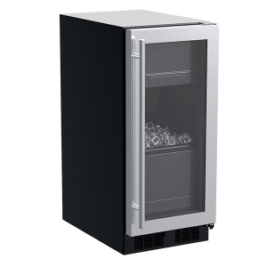 Marvel15-In Built-In Clear Ice Machine with Door Style - Stainless Steel Frame Glass