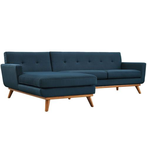 se Left-Facing Sectional Sofa in Azure