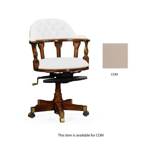 Fabric Upholstered Captain's Chair (COM)
