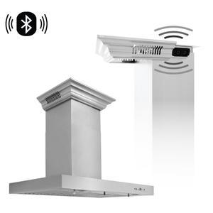 Zline KitchenZLINE Wall Mount Range Hood In Stainless Steel With Built-In CrownSound® Bluetooth Speakers (KECRN-BT) [Size: 24 inch]