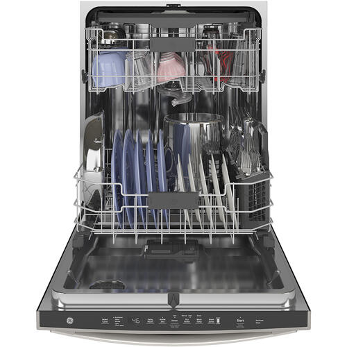 GE Stainless Steel Interior Dishwasher with Hidden Controls Slate - GDT665SMNES