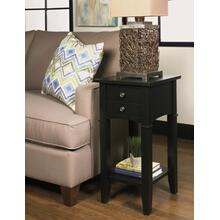 Solid Wood Stand in Black    (1900-55BLK,53025)
