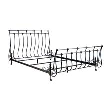 See Details - Metal Bed In Pebbled Black Finish