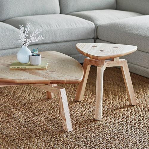 Solana Triangular Coffee Table New Ash Natural