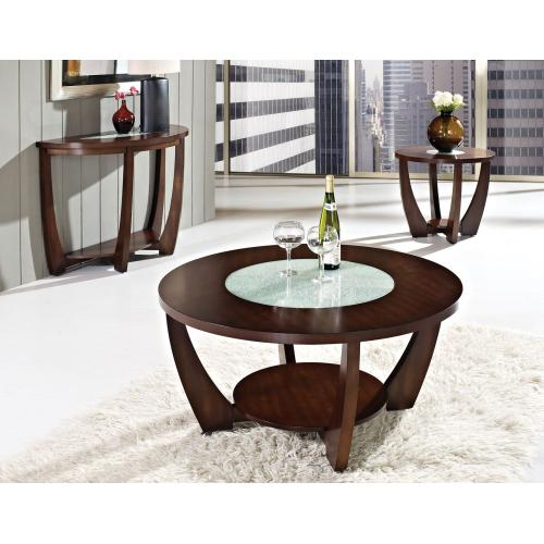 Rafael End Table w/Cracked Glass Insert (15mm)