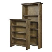 "Bookcase 60""H 1 fixed & 2 adj shelves"