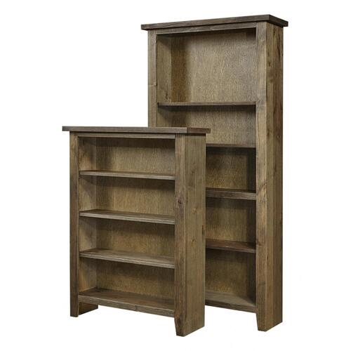 "Bookcase 84""H 1 fixed & 4 adj shelves"
