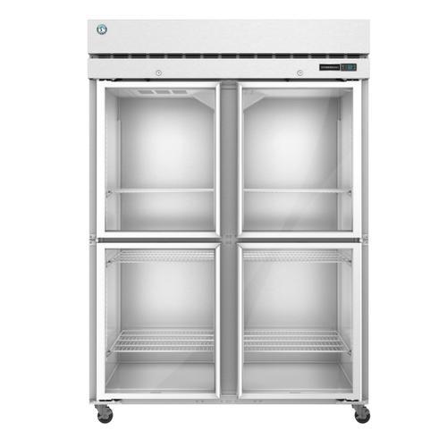 Hoshizaki - F2A-HG, Freezer, Two Section Upright, Half Glass Doors with Lock