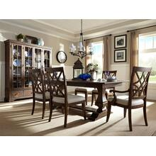 See Details - Trisha Yearwood Dining Room Set: Table with 2 Arm Chairs and 4 Side Chairs