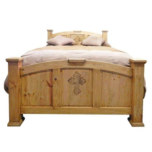 Econo Queen Bed W/ Cross